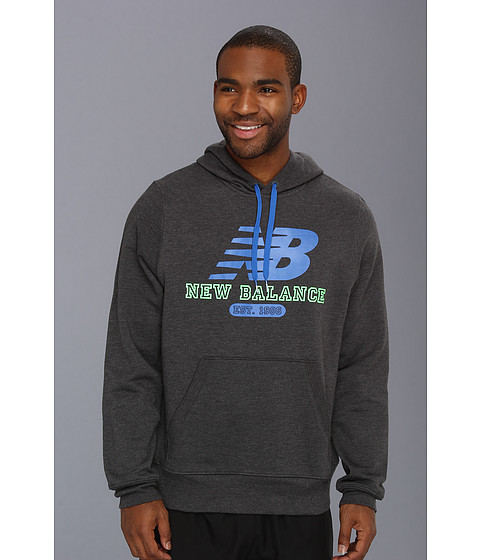 Bluze New Balance - Pullover Hoodie - Heather Charcoal