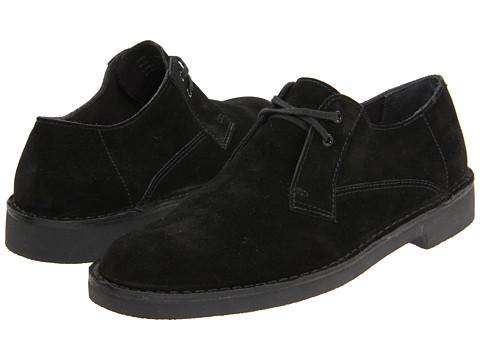 Pantofi Clarks - Bushacre Lo - Black Suede