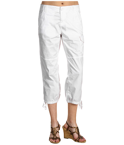 Pantaloni DKNY Jeans Missy - Cropped Cargo Pant - White