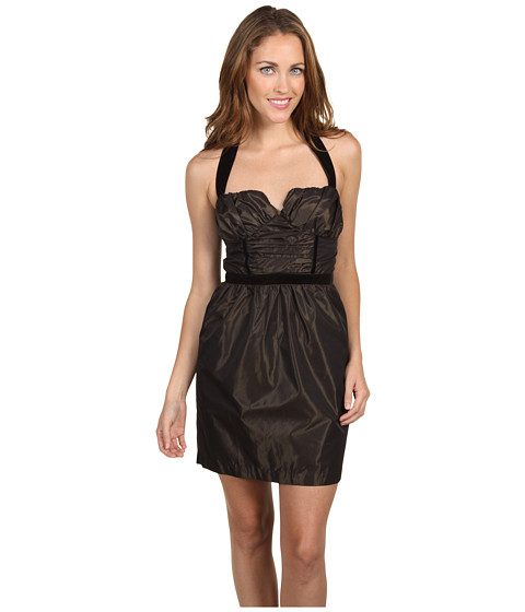 Rochii BCBGeneration - Shirred Bust Halter Dress - Dark Chocolate