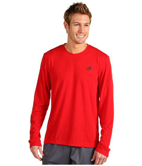 Bluze adidas - CLIMA Ultimate L/S Tee - Light Scarlet/Dark Shale