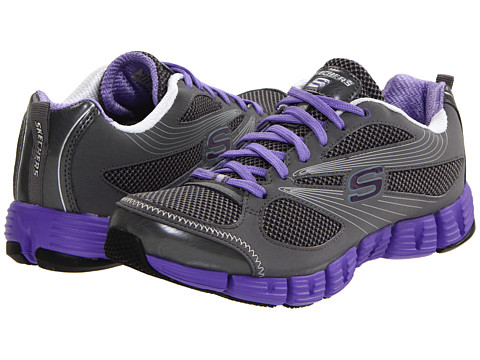 Adidasi SKECHERS - Stride - Charcoal/Purple
