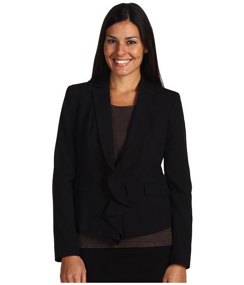 Sacouri Anne Klein - Zip Front Blazer w/ Ruffle - Black