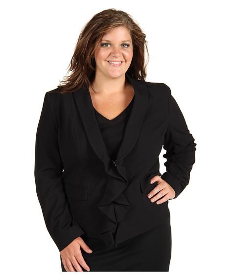 Jachete Anne Klein - Plus Size Zip Front Blazer - Black