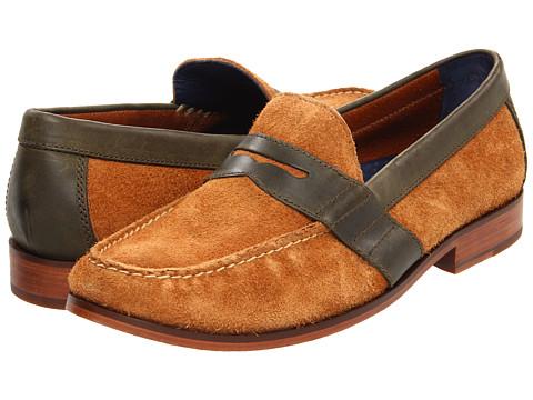 Pantofi Cole Haan - Air Monroe Penny - Nutmeg Suede/Olive