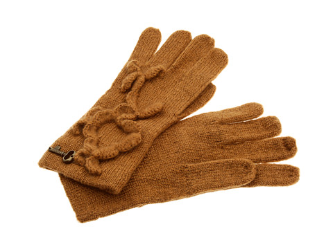 Manusi Fossil - Jess Gloves w/ Hand Crochet Detail - Brown Sugar