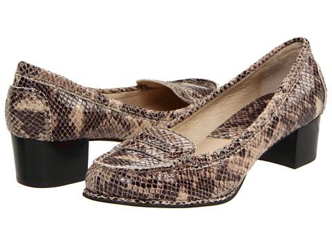 Pantofi Michael Kors - Bayville Mid Loafer - Dark Sand Glazed Python