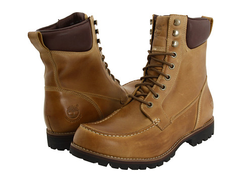 "Ghete Timberland - Earthkeepers® Rugged 7\"" Moc Toe Boot - Golden Beige"