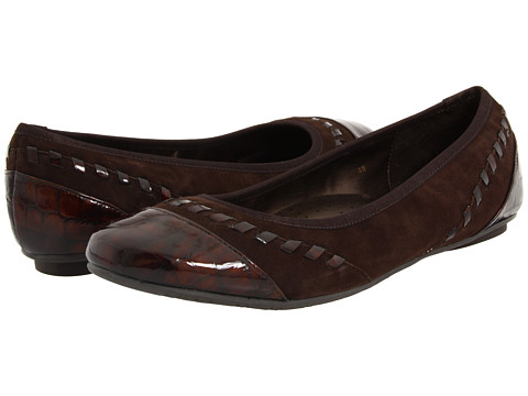 Balerini Vaneli - Secret - Brown Suede/Brown Croco Patent