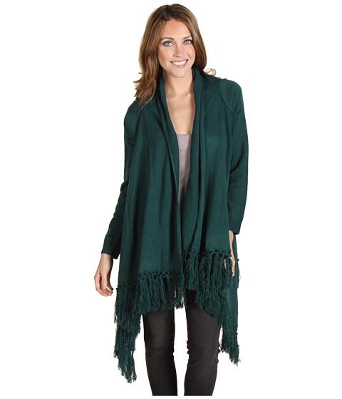 Bluze Christin Michaels - Kaori Fringe Sweater - Teal
