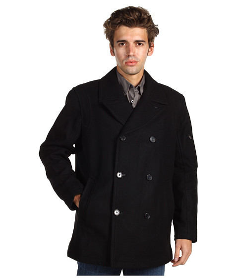 Jachete Cole Haan - Sporty Wool Pea Coat - Black