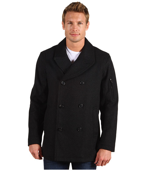 Jachete Cole Haan - Sporty Wool Pea Coat - Charcoal