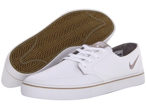 Adidasi Nike - Braata LR Canvas - White/White/Gum Light Brown/Cobblestone