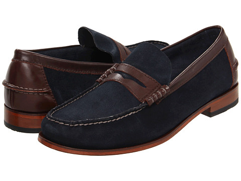 Pantofi Florsheim - Berkley - Navy Suede/Brown Crazy Horse