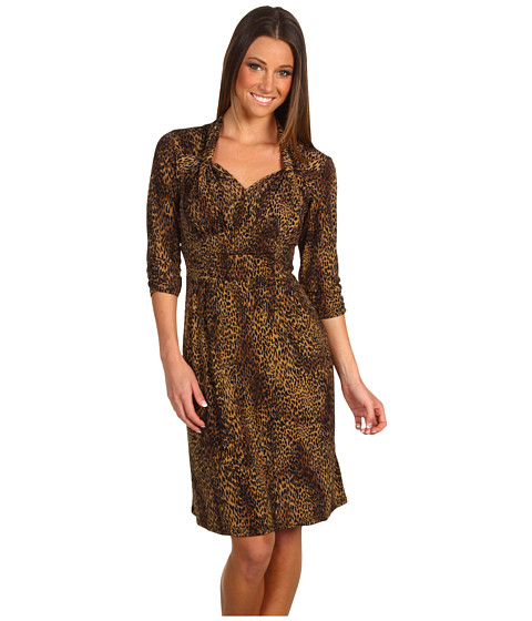 Rochii Christin Michaels - Keira Jersey Dress - Black Multi