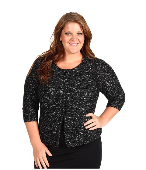 Bluze Anne Klein - Plus Size Swing Style Cardigan - Black