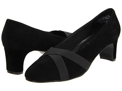 Pantofi Annie - Astor - Black Velvet Suede/Black Stretch