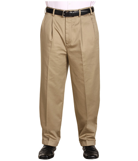 Pantaloni Nautica - Big & Tall Wrinkle Resistant Double Pleat Pant - Military Tan