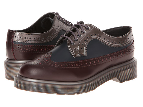 Pantofi Dr. Martens - 3989 - Oxblood Smooth/Navy/Pewter Spectra Patent