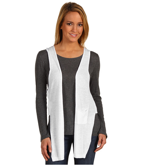 Jachete BCBGeneration - Mixed Gauge Racer Vest - White