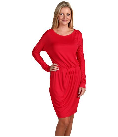 Rochii BCBGMAXAZRIA - Odessa Faux Wrap Dress - Rio Red