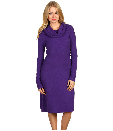 "Rochii BCBGMAXAZRIA - ""Nellie\"" Shawl Collar Sweater Dress - Passion Purple"