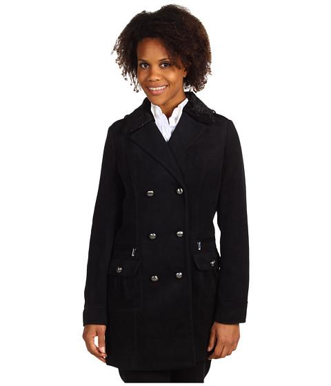 Jachete Anne Klein - Button Front Military Coat - Black