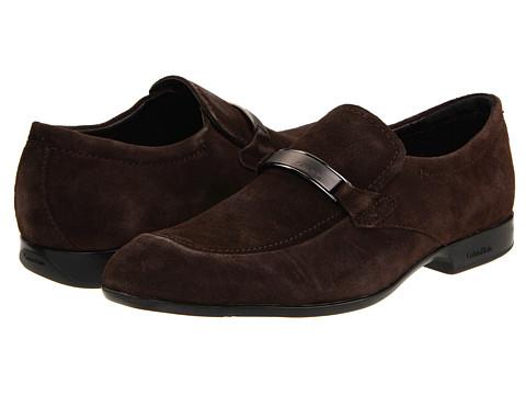 Pantofi Calvin Klein - Adam - Dark Brown Suede