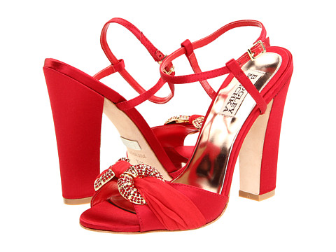 Pantofi Badgley Mischka - Jeweled - Red Satin/Silk