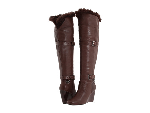 Ghete Michael Kors - Lara Wedge Boot - Mocha Leather