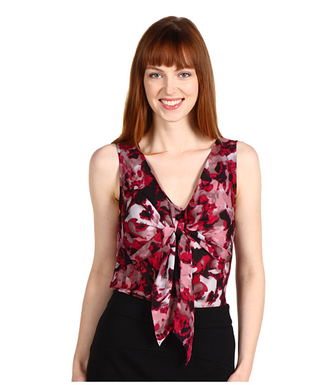 Bluze Anne Klein - Rose Floral Blouse w/ Tie - Multi