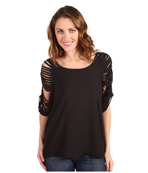 Tricouri Type Z - Beyla Shredded Blouse - Black