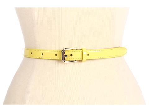 Curele Cole Haan - Village Skinny Belt - Lemon Ice Patent