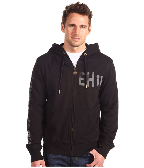Bluze Ed Hardy - Square Foil Collage Hoody - Black