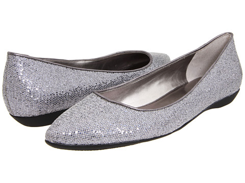 Balerini Nine West - Taker - Silver/Dark Silver Fabric