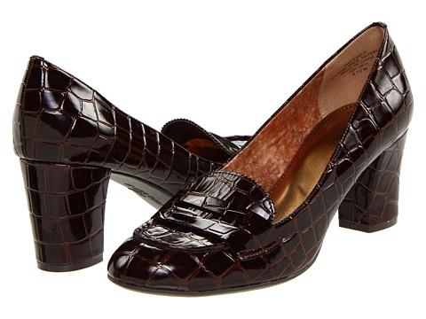Pantofi Anne Klein - Franca - Brown Croc