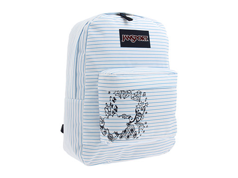 Ghiozdane JanSport - Superbreak® - White and Blue Right On
