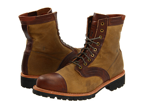 "Ghete Timberland BC - Tackhead 6"" Lace-up Boot - Brown/Sage Oiled Fabric"