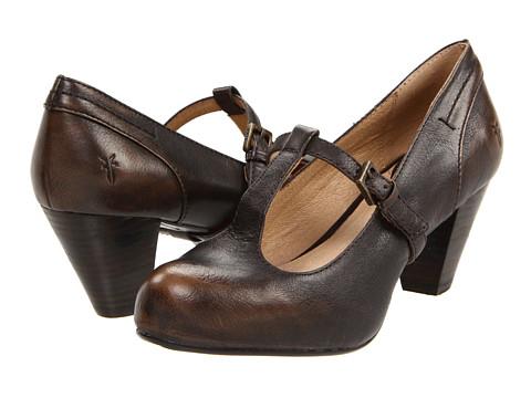 Pantofi Frye - Lois T Strap - Smoke Brush Off