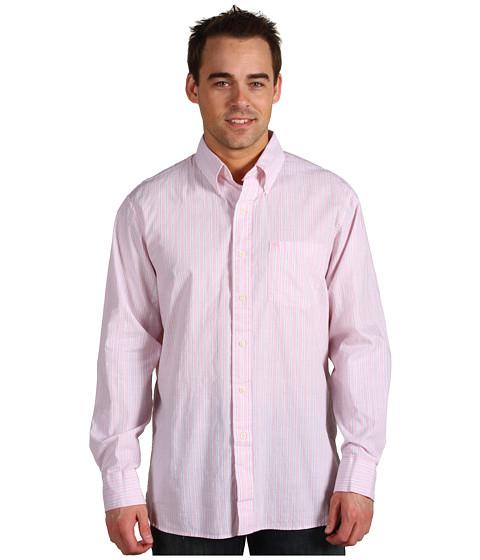 Camasi IZOD - Chambray Stripe L/S Buttondown Shirt - Cradle Pink