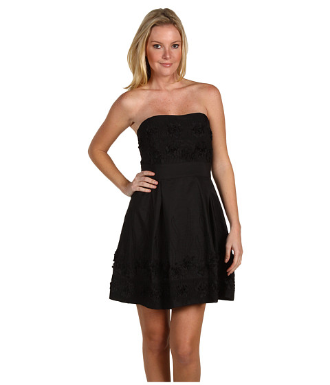 Rochii Badgley Mischka - Embroidered Dress - Black