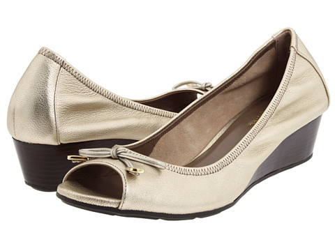 Pantofi Cole Haan - Air Tali Open Toe Chain Wedge 40 - White Gold Metallic