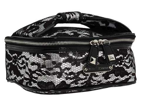 Genti de voiaj Betsey Johnson - Royal Lace Train Case - Silver