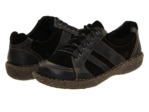 Pantofi Born - Melissa - Black Suede