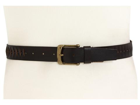 Curele John Varvatos - 35mm Flat Strap with Wax Cord - Brown Italian Veg Leather