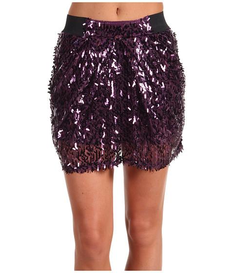 Fuste Promiscuous - Divina Sequin Mini Skirt - Purple