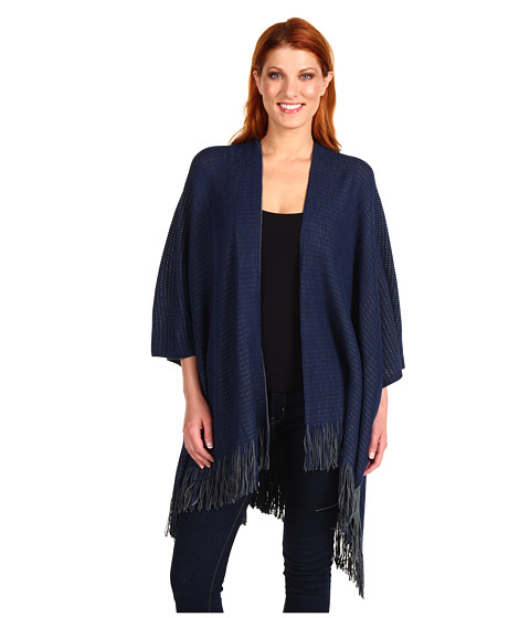 Pulovere Echo Design - Reversible Texture Ruana - Navy Heather