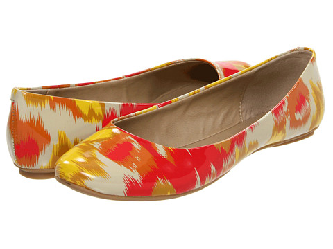 Balerini Kenneth Cole Reaction - Slip On By - Orange/Yellow Tribal Patent