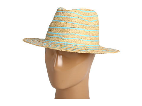 Palarii Echo Design - Contrast Striped Fedora - Aquamarine