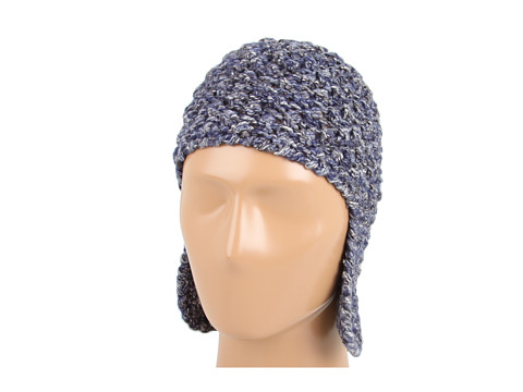 Palarii Echo Design - Tweed Acorn Stitch Hat - Deep Blue Multi